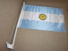 """2  Sided Argentina CAR FLAG 18""""x 12"""" New"""