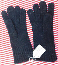 Vintage childrens gloves UNUSED grey wool knitted boy girl 1960s 1970s Size 5.5