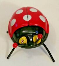 "1960s WIND-UP LADY BUG 4"" L x 3""W x 2"" T ~ Ray Rohr Cosmic Artifacts"