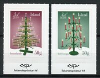Iceland Christmas Stamps 2019 MNH Trees Candles 2v S/A Set