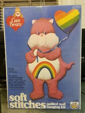 Care Bears Soft Stitches Quilt Wall Hanging Craft Kit Sealed Vtg 1984