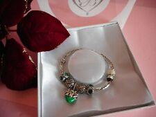Brighton Candy Cane Heart & Americana Christmas Charm Bracelet Gift Set NIB