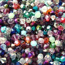 100 x 4mm Crystal Bicone Beads Mix Tiaras  & Jewellery Making