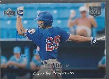 Montreal Expos GEOFF BLUM Signed UD Card