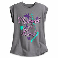 Disney Authentic Little Mermaid Ariel Cap Sleeve Tee Shirt Tweens Size 5/6