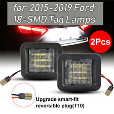 Pair LED License Plate Rear Bumper Lights Lamps For Ford F-150 2015-2018 2019