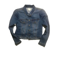 Maison Jules Puff Sleeve Denim Jacket Navy Size Medium