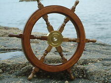 Large Ships wheel 24 Inches across- Nautical maritime  Nice Size Home Decor