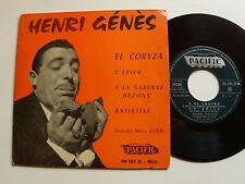 """HENRI GENES: El coryza , Garenne Bezons (MARIUS COSTE) 7"""" EP 1957 PACIFIC 90181"""