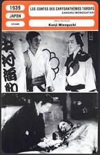 LES CONTES DES CHRYSANTHEMES TARDIFS - Kenji Mizoguchi (Fiche Cinéma) 1939