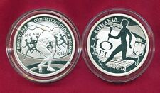 Romania 2014 10 LEI 100th Romanian Olympic Committee,proof silver coin,250 pcs