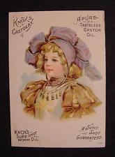 Knox's Castor Oil Medicine-Trade Card-St. Louis Mo-Castolax-Pullen Richardson