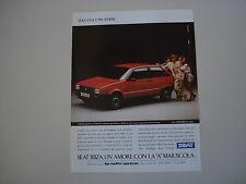 advertising Pubblicità 1988 SEAT IBIZA