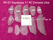 2001 01 HAYABUSA GSXR 1300 11 PC CHROME LIKE FAIRING TAIL & NOSE SCREENS GRILLS
