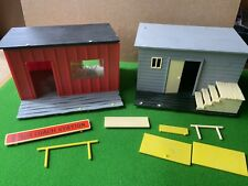 Vintage Timpo Toys Wild West Buildings Bank & Stage Coach Station Plastic Lot