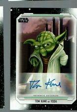 2019 Topps Star Wars Skywalker Saga AUTOGRAPH Tom Kane -- Yoda