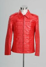 "Michael Jackson ""Man in the Mirror"" Pleather Jacket Costume Cosplay Tailored"