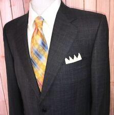 Luxury Canali Sport Coat 42L Wool Gray Blue Plaid Italy Made Super 120s Blazer