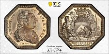 1785 India-French Jeton Medal Octagonal - Louis XVI PCGS MS61 - Rare High Grade