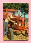 CARTE POSTALE - VIVE ST / SAINT ELOI - TRACTEUR AGRICOLE BOLINDER MUNKTELL -