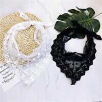 Lace Triangle Scarf Neck Tie Head Wrap Handkerchief Headband Small Scarves BS