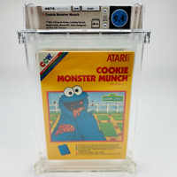 Cookie Monster Munch - Atari 2600 Yellow Box 1983 Factory Sealed WATA 9.4 A++