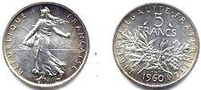 5 FRANCS SEMEUSE ARGENT . 1960 .FDC