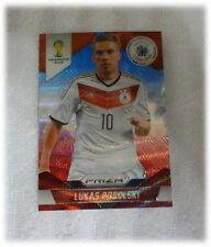 2014 Panini Prizm World Cup Blue Red Wave Lukas Podolski - Germany #92
