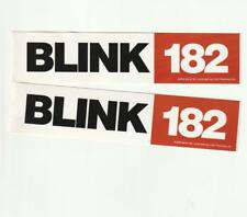 Blink 182 Vintage Pair of Licensed 2001 Peel-n-Stick Stickers Decals Mint