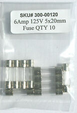 6 amp 125v 5x20mm fuse / 6AMP 125 volts / Fast Blow / Lot of 10