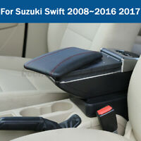 Leather Car Center Console Armrest Storage Box For Suzuki Swift 2008~2016