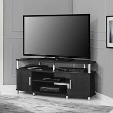 Corner TV Stand Flat Screen Entertainment Center Media Cabinet Console Espresso