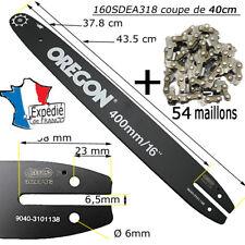 OREGON 40cm GUIDE BAR 160SDEA318 + chaine 54T  TRONCONNEUSE mc