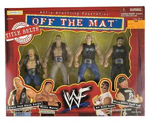 WWF-Stone Cold, Rocky Maivia, Billy Gunn & Jesse James-Jakks Off The Mat W/Belts