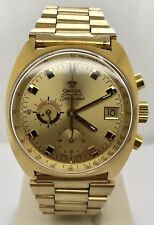 Omega Vintage Seamaster Chronograph Gold Tone Cal 1040 Gold Dial 176.007