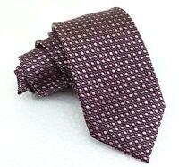 Krawatte rötlich-braun & beige 8 cm klassisch seide Italien business hochzeit