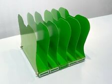 1940s Desktop Memo File Holder Refinished In Lime Green Free Us Shipping