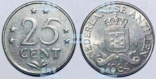 NETHERLANDS ANTILLES 25 Cents 1970-1985 20mm nickel coin