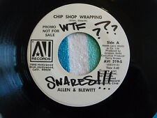 Allen & Blewitt Chip Shop Wrapping 45 rpm White Label Promo Avi 1979 Novelty Rap
