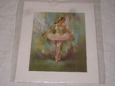 Copie d'un tableau représentant une danseuse classique