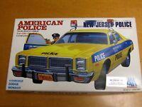 YODEL 1970'S DODGE POLICE CAR NEW JERSEY POLICE  PORT AUTHORITY NY NJ MODEL KIT
