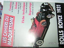 ¤¤ Cahiers du Maquettisme n°6 Transtar Eagle Focke Wulf 190-D9 Rolls Royce 1931
