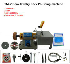 220V TM-2 Gem Jewelry Rock Bench Polishing grinding machine Bench Lathe Polisher