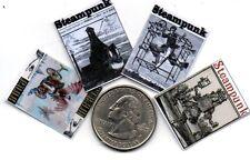 4 Miniature   'STEAMPUNK'   Magazines  - Dollshouse 1:12 scale
