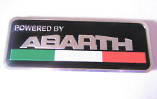 Abarth Badge Itay Flag Powered by Abarth Metal Emblem Self Adhesive NEW