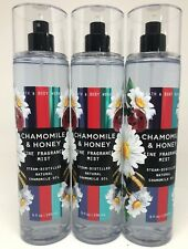 3 BATH & BODY WORKS CHAMOMILE & HONEY BODY MIST FINE FRAGRANCE SPRAY 8 FL OZ NEW