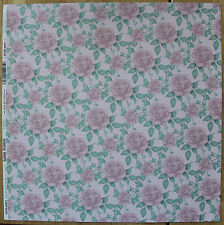 2 SOFT FLORALS PINK ROSE SCRAPBOOK PAPER! WEDDING ROMANCE MOTHER DAY BABY PROM!
