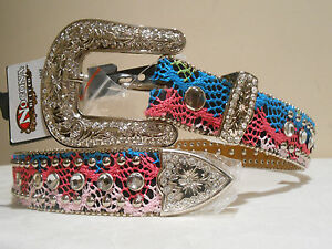 REDUCED! Women's & Girls' Nocona Belt - SIZE 26 Small  Turquoise, Green, Pink