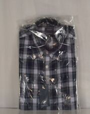 Dress Shirt 15 - 15 1/2 & 34 - 35 Arrow Blue Plaid Regular Fit Wrinkle Free New