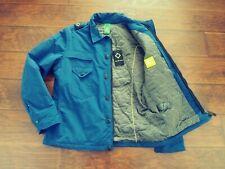 Ma Strum Mens Massimo Osti CPO Silk Face Padded Overshirt Jacket Northern Blue L